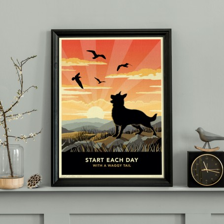 Limited edition German Shepherd Print. A dog lover's gift.