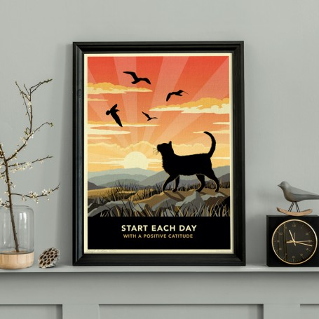 Limited edition Shorthaired Cat Print. A cat lover's gift.