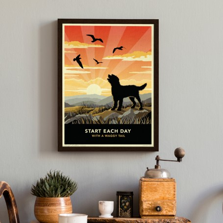 Limited edition Labradoodle or Goldendoodle Print. A dog lover's gift.