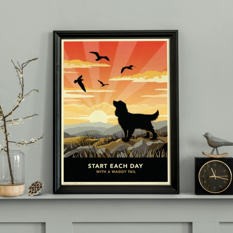 Limited edition Spaniel Print. A dog lover's gift.