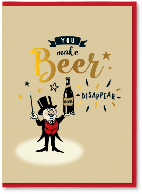 You make beer disappear