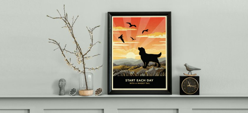 New 'Waggy Tails' print range