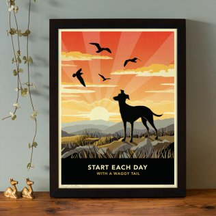 Limited edition Greyhound, Whippet or Lurcher Print. A dog lover's gift.