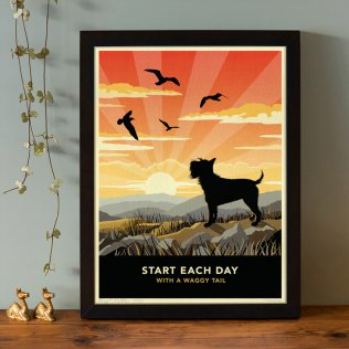 Limited edition Schnauzer Print. A dog lover's gift.