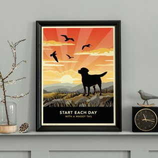 Limited edition Labrador Print. A dog lover's gift.