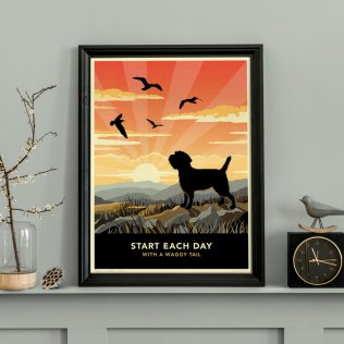 Limited edition Border Terrier Print. A dog lover's gift.