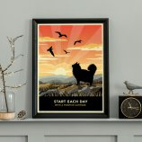 Limited edition Longhaired Cat Print. A cat lover's gift.