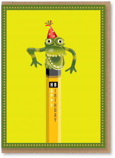 Green monster pencil topper